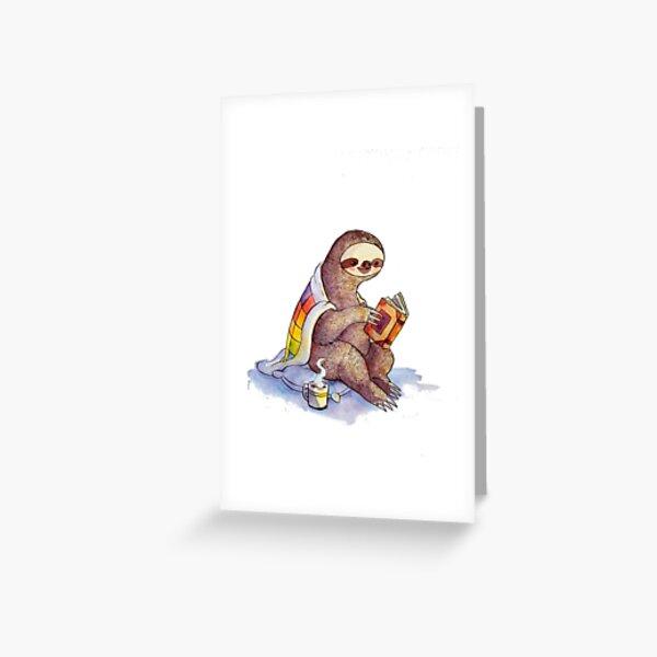 Cozy Sloth Greeting Card