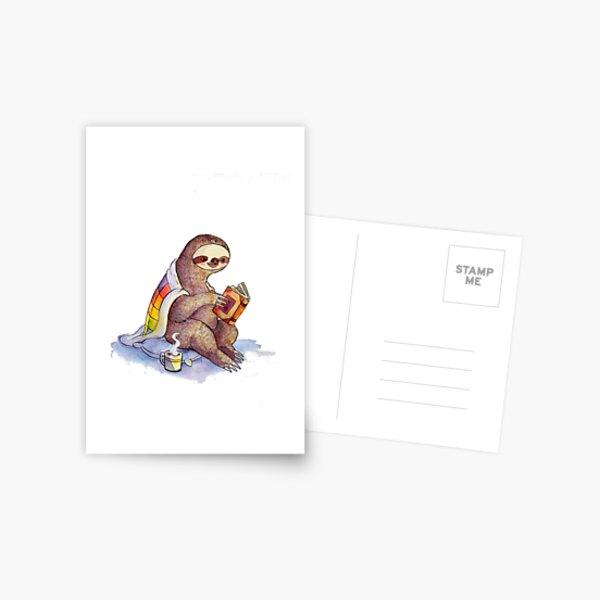 Paresse confortable Carte postale