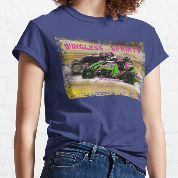 Wingless Sprintcars ripping the dirt track Classic T-Shirt