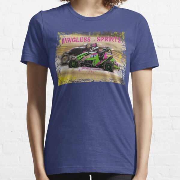 Wingless Sprintcars ripping the dirt track Essential T-Shirt