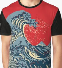The Great Hokusai Wave Hope Election Style Graphic T-Shirt