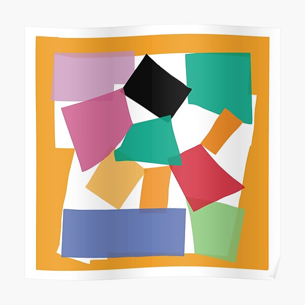L'Escargot 'The Snail'  Impression of Work by Henri Matisse as a Vector Graphics Poster