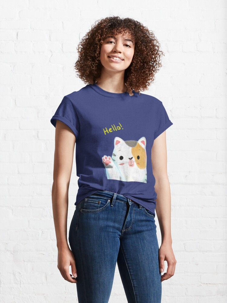 Alternate view of Hello Cat Classic T-Shirt