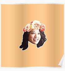 Kira Flower Crown Poster