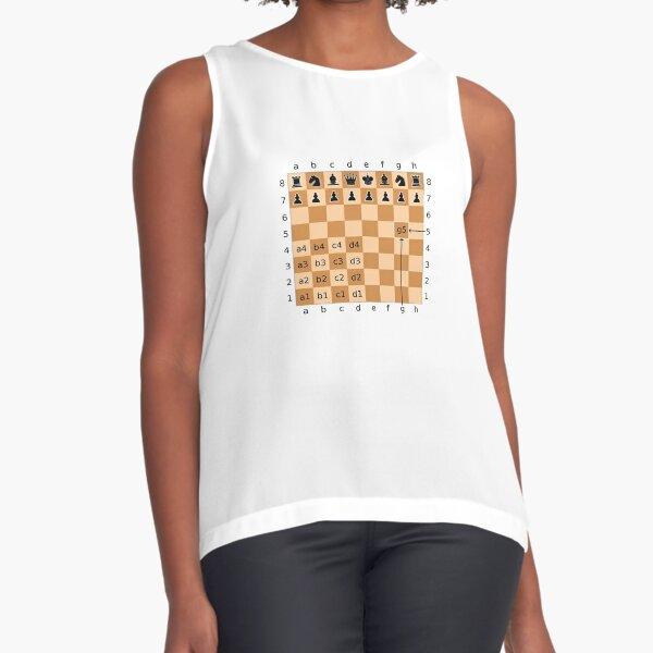 Algebraic Notation - Chess Sleeveless Top