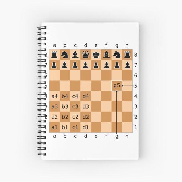 Algebraic Notation - Chess Spiral Notebook