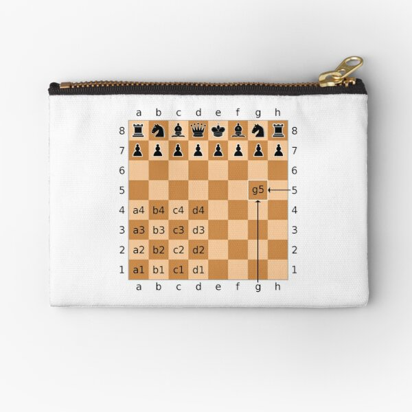 Algebraic Notation - Chess Zipper Pouch