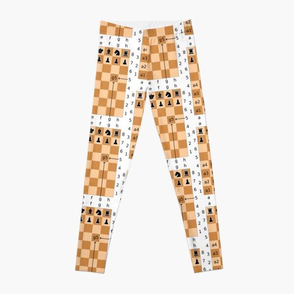 Algebraic Notation - Chess Leggings