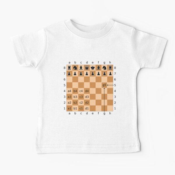 Algebraic Notation - Chess Baby T-Shirt