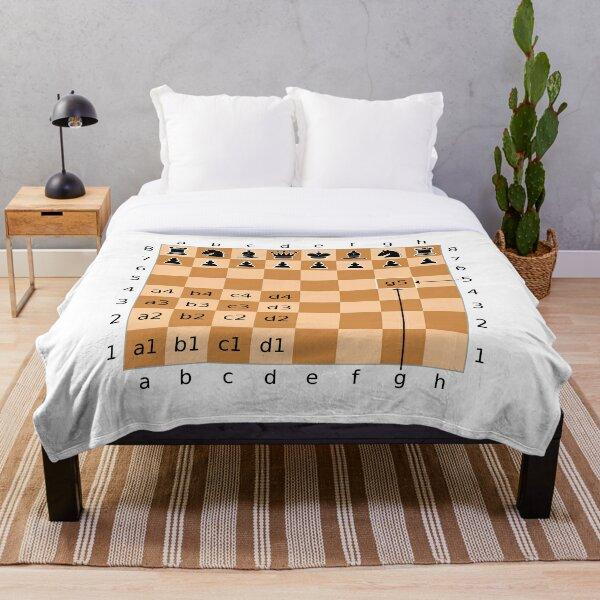 Chess, Algebraic Notation - Chess Throw Blanket