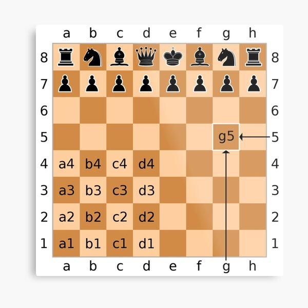 Algebraic Notation - Chess Metal Print