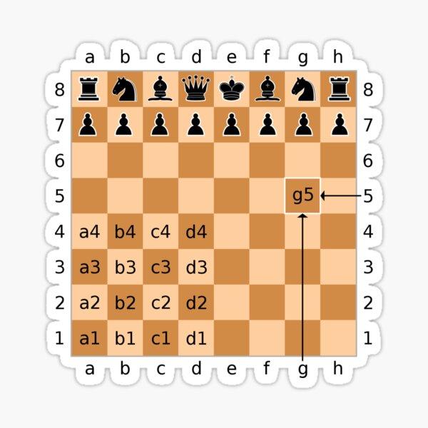 Algebraic Notation - Chess Sticker