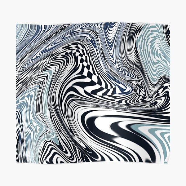 Checkboard Swirl Poster