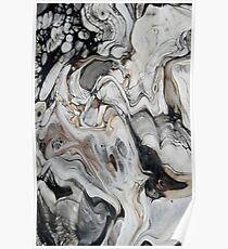Grauer Marmor-Effekt Poster