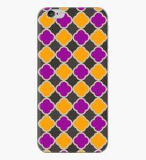 Halloween Quatrefoil Pattern iPhone Case