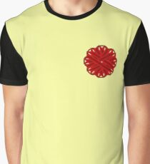 Burgundy Flower Ribbon Graphic T-Shirt
