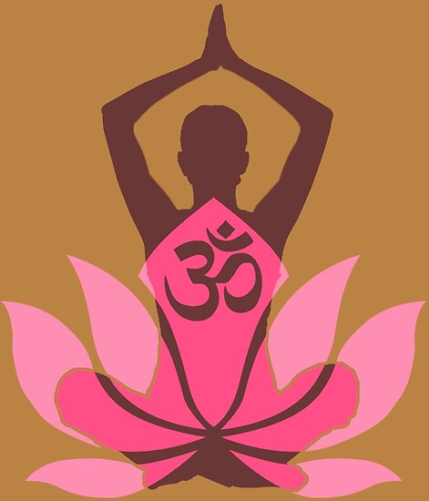 Om namaste yoga pose lotus flower posters by garaga redbubble om namaste yoga pose lotus flower by garaga mightylinksfo