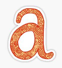 zentangle a: orange Sticker