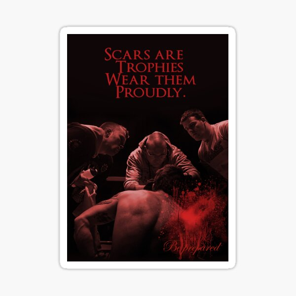 MMA SCARS AND TROPHIES Sticker