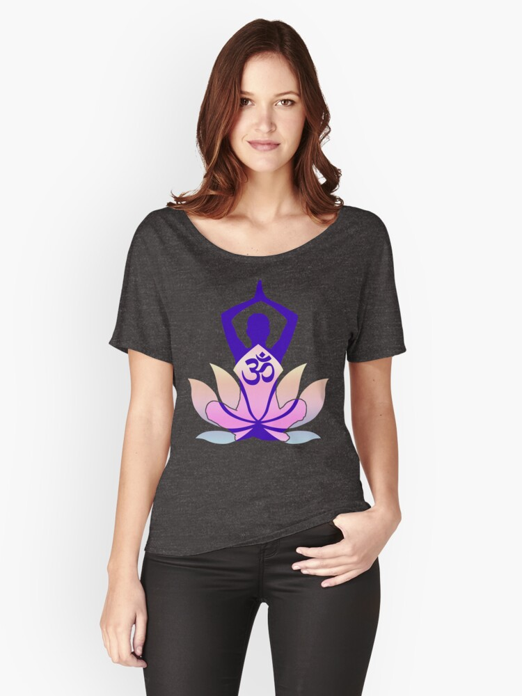 Om namaste yoga pose lotus flower womens relaxed fit t shirt by om namaste yoga pose lotus flower womens relaxed fit t shirt by garaga redbubble mightylinksfo
