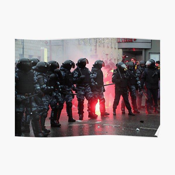 Riot: В Москве, Санкт-Петербурге, Красноярске, Владивостоке и других городах полиция и Росгвардия применили силу. Poster