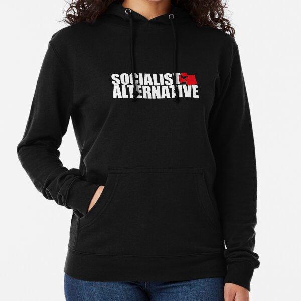 Sozialistisches alternatives Logo (weißer Text) Leichter Hoodie