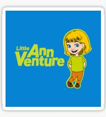 Little Ann Venture (on Blue) Sticker