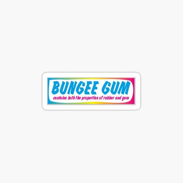 bungee gum bumper sticker Sticker