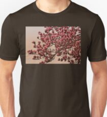 Magnolia Tree In Bloom - Antique Victorian Needlepoint Effect Unisex T-Shirt