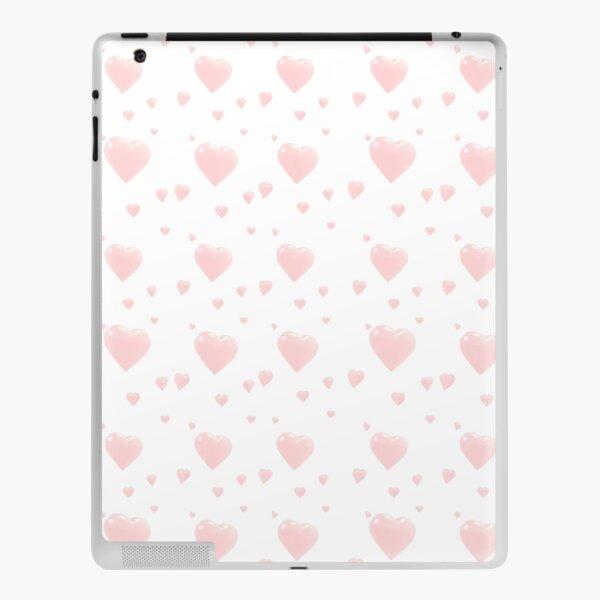 Cute Pink Hearts iPad Skin
