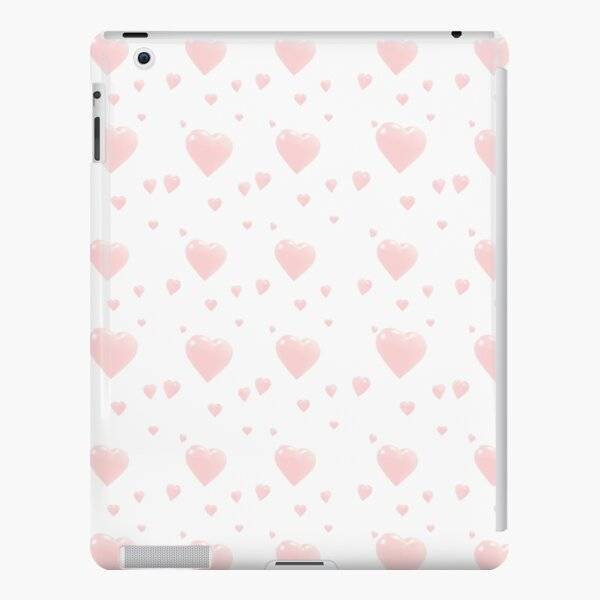 Cute Pink Hearts iPad Snap Case