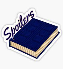 Tardis Journal SPOILERS Sticker