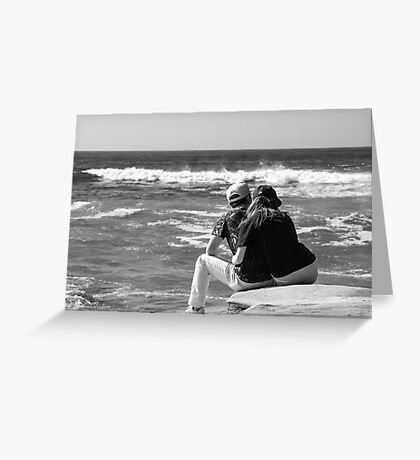 Watching The Surf Roll In Greeting Card
