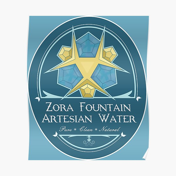 Hipsters of Hyrule - Zora Fountain Artesian Water Poster