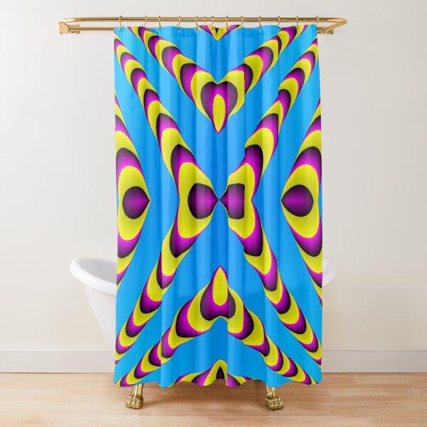 Optical iLLusion, Triangle, 2D shape Shower Curtain