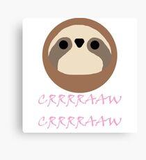 Nora - Sloth Noises 1 Canvas Print