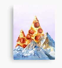 Pepperoni Pizza Peaks Metal Print