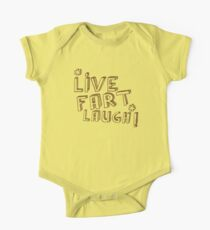 LIVE FART LACHEN Baby Body Kurzarm