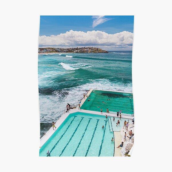 Bondi Beach Swimming Pools in Australia  Poster