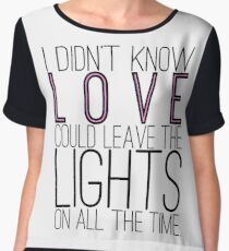Leave the Lights On Women's Chiffon Top
