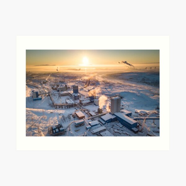 Cityscape: Рудник «Скалистый» Art Print