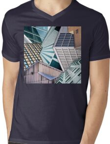 City Buildings Abstract Mens V-Neck T-Shirt