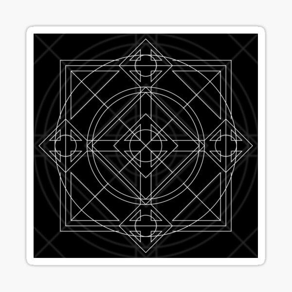 Symmetrically Abstract Sticker