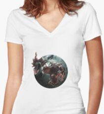 LOL - Rengar Women's Fitted V-Neck T-Shirt