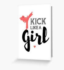 Kick Like A Girl Greeting Card