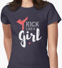 Kick Like A Girl Womens Fitted T-Shirt