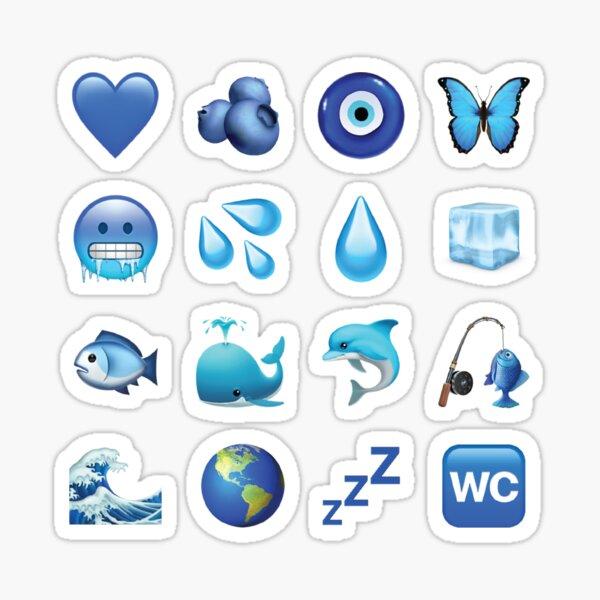Paquete de emojis azules Pegatina