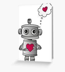 Valentine Robot Greeting Card