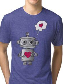 Valentine Robot Tri-blend T-Shirt