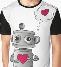 Valentine Robot Graphic T-Shirt